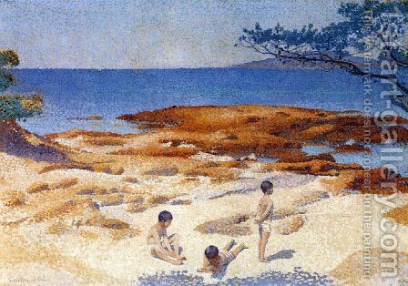 Beach at Cabasson by Henri Edmond Cross - Reproduction Oil Painting