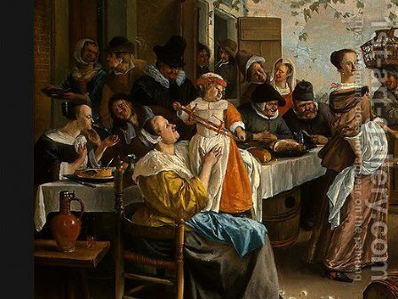 Dancing couple by Jan Steen - Reproduction Oil Painting