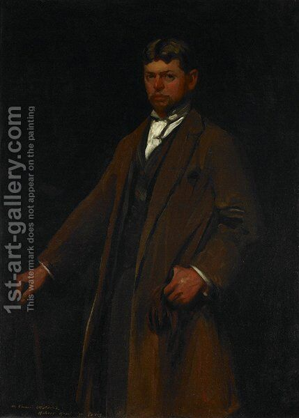 Portrait of Carl Gustav Waldeck by Robert Henri - Reproduction Oil Painting
