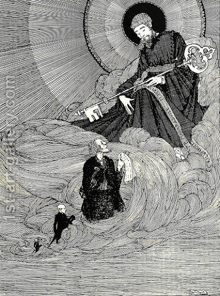 The Year's at the Spring 15 by Harry Clarke - Reproduction Oil Painting