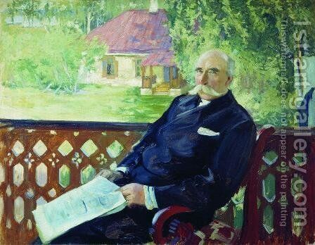 Portrait of N.A. Podsosov by Boris Kustodiev - Reproduction Oil Painting