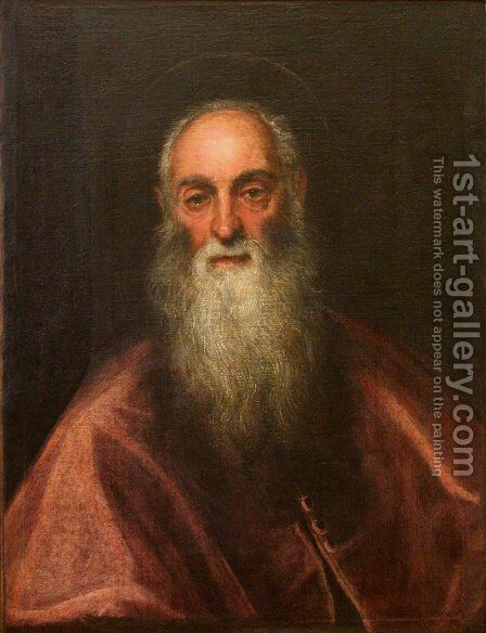 St Jerome by Jacopo Tintoretto (Robusti) - Reproduction Oil Painting