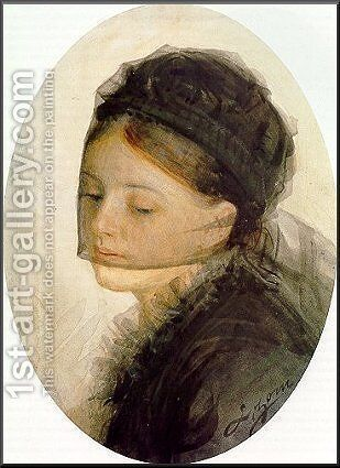 In mourning by Anders Zorn - Reproduction Oil Painting
