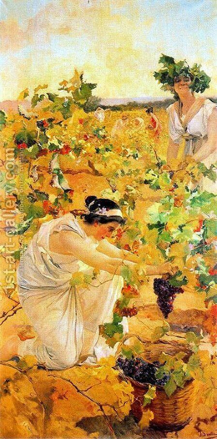 Grape Harvest by Joaquin Sorolla y Bastida - Reproduction Oil Painting