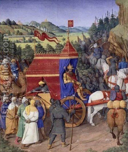 Triumph of Jehoshaphat over Adad of Assyria by Jean Fouquet - Reproduction Oil Painting