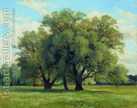 Oaks 2 by Ivan Shishkin - Reproduction Oil Painting