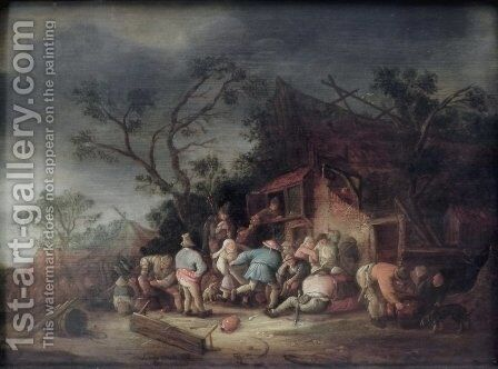 Tavern by Isaack Jansz. van Ostade - Reproduction Oil Painting