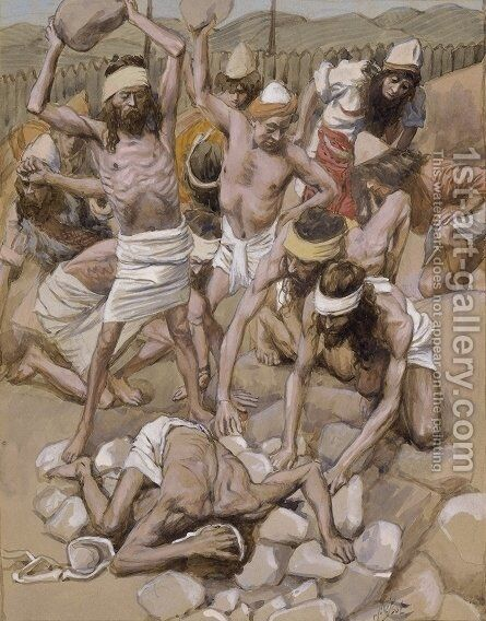The Sabbath Breaker Stoned by James Jacques Joseph Tissot - Reproduction Oil Painting