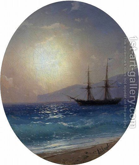 Sea 5 by Ivan Konstantinovich Aivazovsky - Reproduction Oil Painting