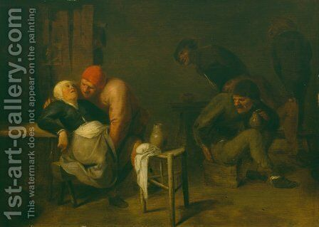 Peasant Inn by Adriaen Brouwer - Reproduction Oil Painting