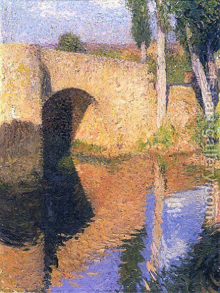 The Bridge by Henri Martin - Reproduction Oil Painting