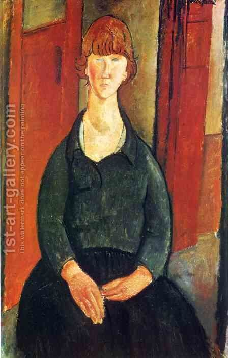 Flower vendor by Amedeo Modigliani - Reproduction Oil Painting
