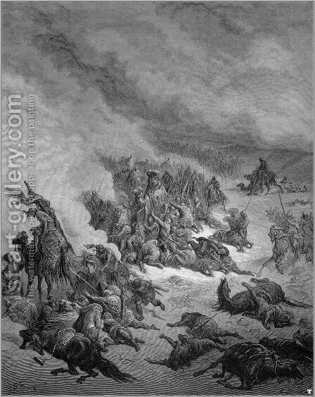 Crusade against the moors of Granada by Gustave Dore - Reproduction Oil Painting