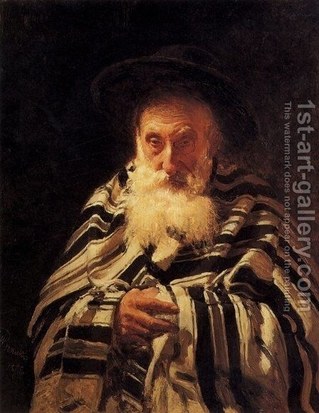 Jew praying by Ilya Efimovich Efimovich Repin - Reproduction Oil Painting