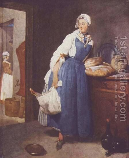 The Besorgerin by Jean-Baptiste-Simeon Chardin - Reproduction Oil Painting