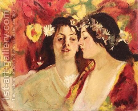 Spring (Two Muses) by Stefan Luchian - Reproduction Oil Painting