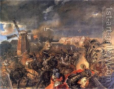 Battle of Grunwald (detail) 2 by Jan Matejko - Reproduction Oil Painting
