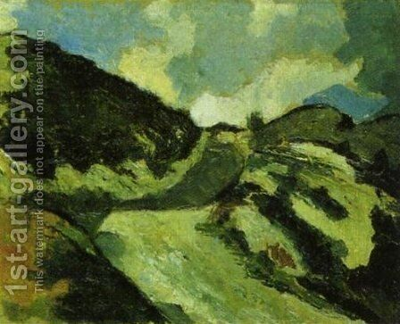 Dune landscape by Theo van Doesburg - Reproduction Oil Painting