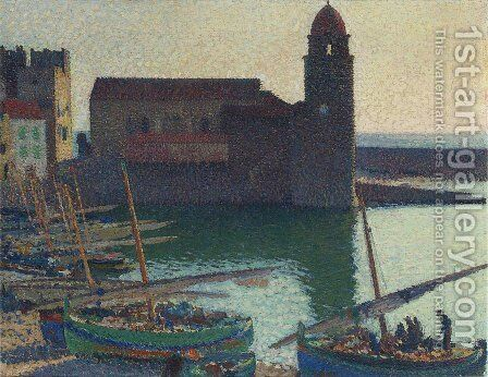 The Port of Collioure by Henri Martin - Reproduction Oil Painting
