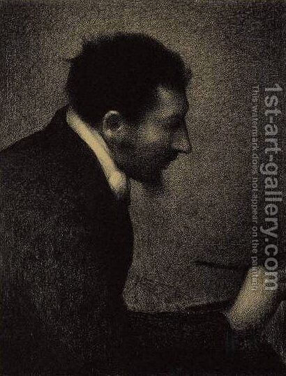 Portrait of Edmond-Francois Aman-Jean by Georges Seurat - Reproduction Oil Painting