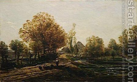 The turkey keeper by Charles-Francois Daubigny - Reproduction Oil Painting