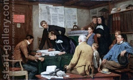 Die Ziviltrauung by Albert Anker - Reproduction Oil Painting