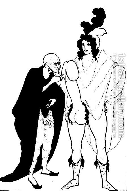 The Examination of the Herald by Aubrey Vincent Beardsley - Reproduction Oil Painting