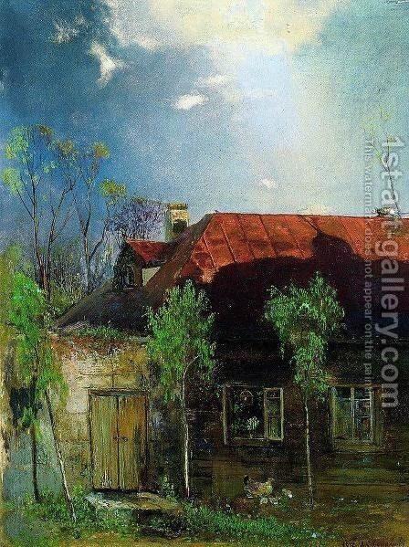 Little House in the province. Spring by Alexei Kondratyevich Savrasov - Reproduction Oil Painting