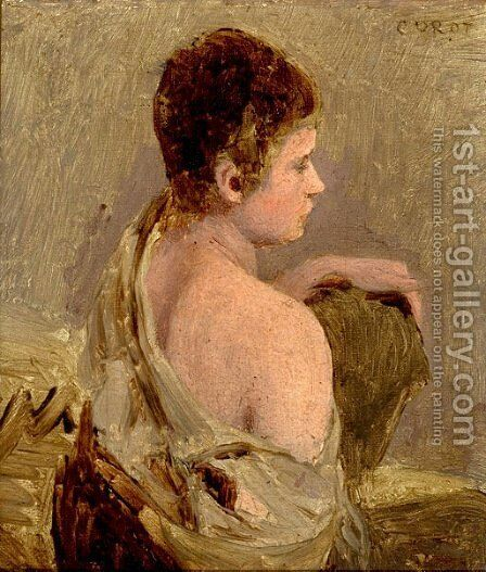 Young Man with Naked Shoulder by Jean-Baptiste-Camille Corot - Reproduction Oil Painting