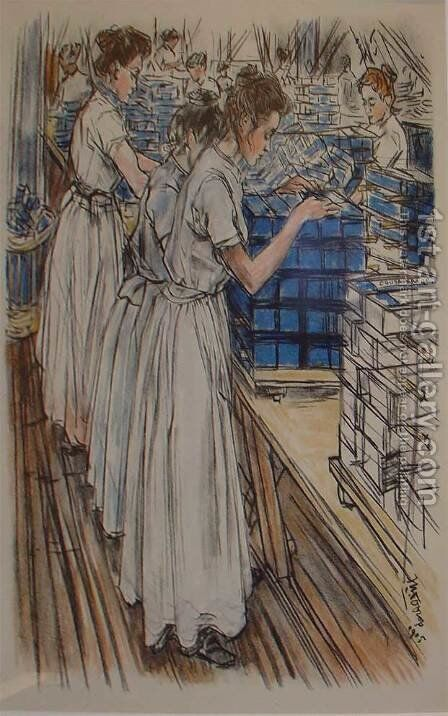 Candle factory by Jan Toorop - Reproduction Oil Painting