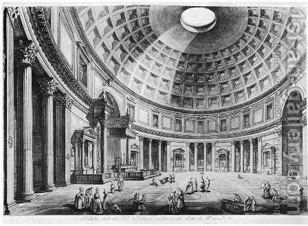 Vedute di Roma 64 by Giovanni Battista Piranesi - Reproduction Oil Painting