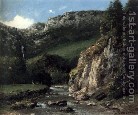 Stream in the Jura Mountains by Gustave Courbet - Reproduction Oil Painting
