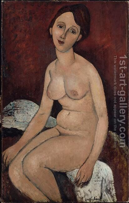 Seated nude 3 by Amedeo Modigliani - Reproduction Oil Painting