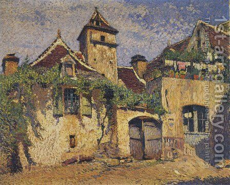 Houses in the Village 2 by Henri Martin - Reproduction Oil Painting
