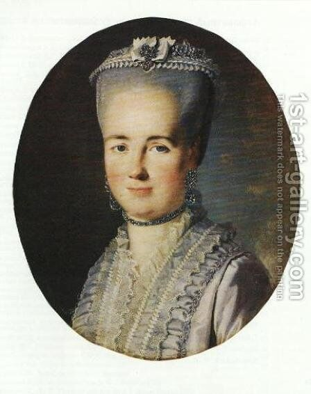 Portrait of an unknown woman by Carl-Ludwig Christinek - Reproduction Oil Painting