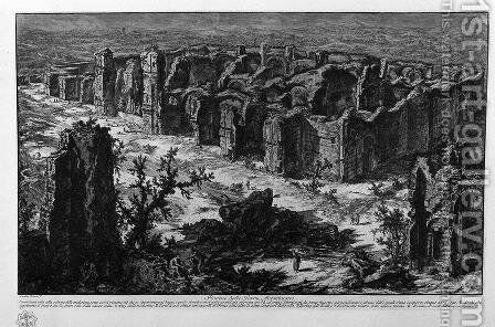 Ruins of the Antonine Baths by Giovanni Battista Piranesi - Reproduction Oil Painting