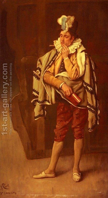 The Comedian by James Jacques Joseph Tissot - Reproduction Oil Painting