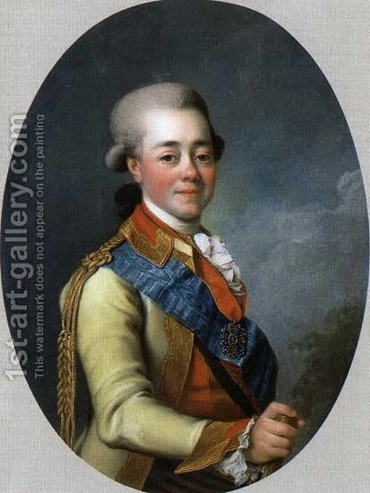 Paul I of Russia by Dmitry Levitsky - Reproduction Oil Painting