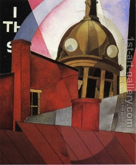 Welcome to Our City by Charles Demuth - Reproduction Oil Painting