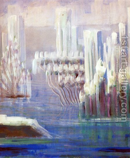 Creation of the World VI by Mikolajus Ciurlionis - Reproduction Oil Painting