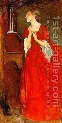 The Lady Anne by Edwin Austin Abbey - Reproduction Oil Painting