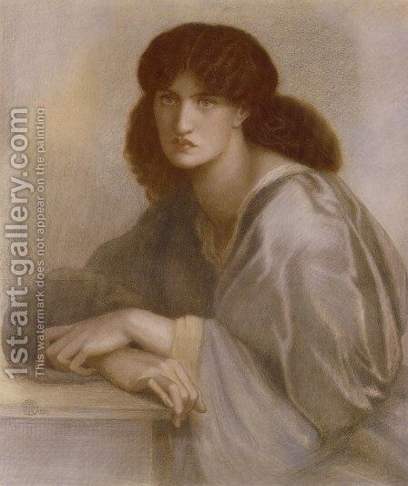 The Women's Window (Jane Morris) by Dante Gabriel Rossetti - Reproduction Oil Painting
