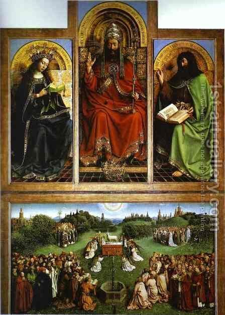 God the Father by Jan Van Eyck - Reproduction Oil Painting