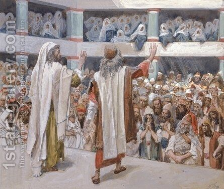 Moses and Aaron Speak to the People by James Jacques Joseph Tissot - Reproduction Oil Painting