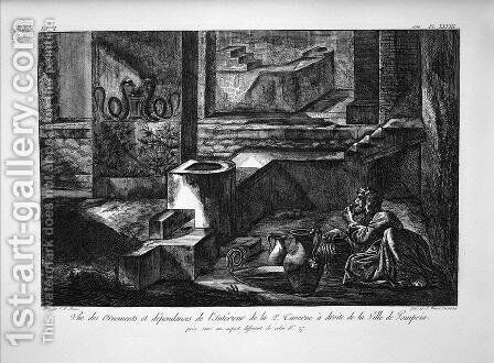 Tavern on the right inside of the second by Giovanni Battista Piranesi - Reproduction Oil Painting