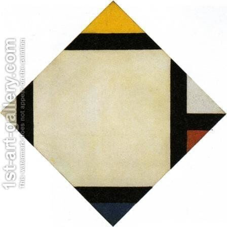 Counter composition VII by Theo van Doesburg - Reproduction Oil Painting