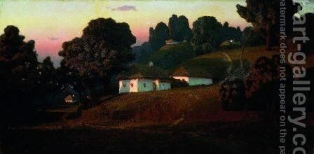Evening in Ukraine by Arkhip Ivanovich Kuindzhi - Reproduction Oil Painting