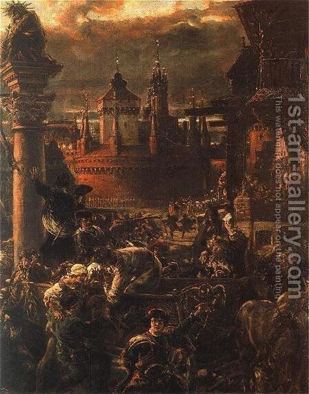 Output scholars by Jan Matejko - Reproduction Oil Painting