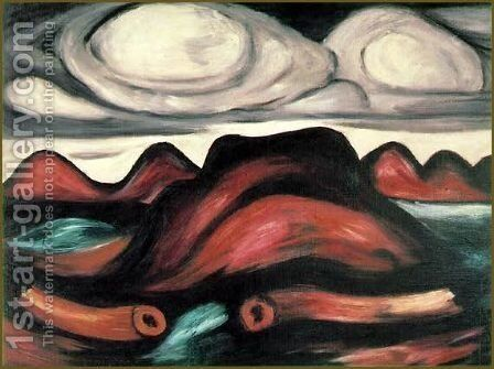 New Mexico Recollections, No. 12 by Marsden Hartley - Reproduction Oil Painting