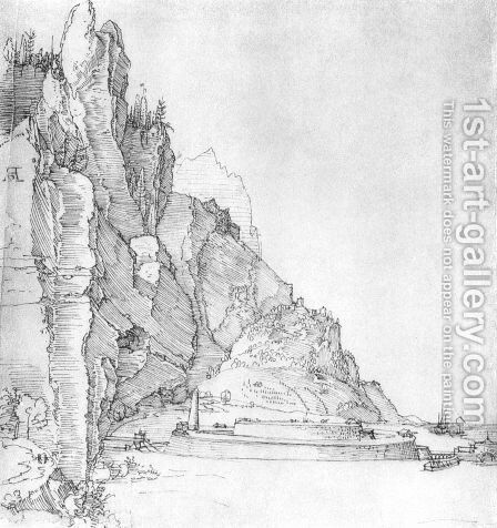 Fort between mountains and sea by Albrecht Durer - Reproduction Oil Painting